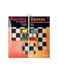 PARCHIS CON DAMAS TABLERO...